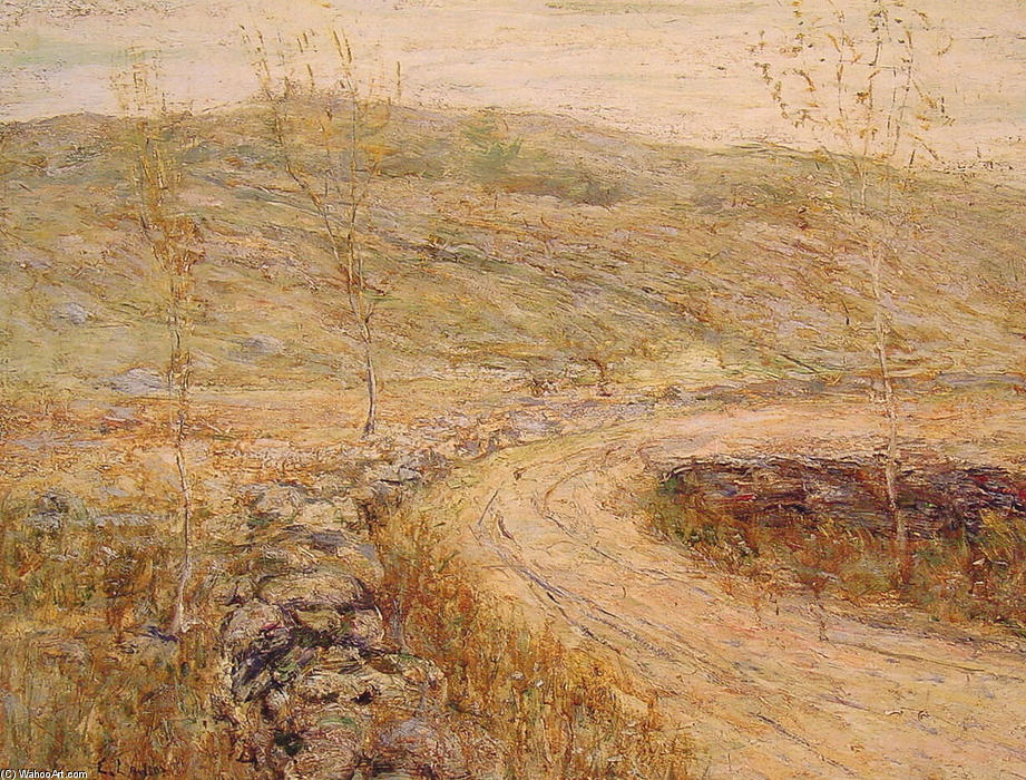 famous painting Road in Spring of Ernest Lawson
