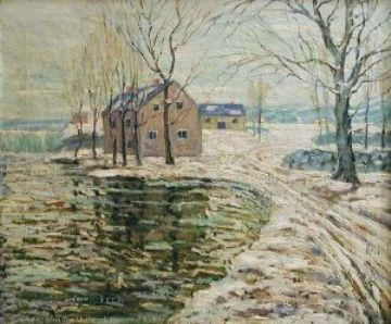 famous painting Snow Scene of Ernest Lawson