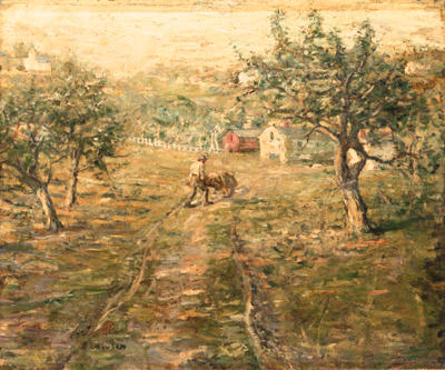 famous painting Spring Orchards of Ernest Lawson