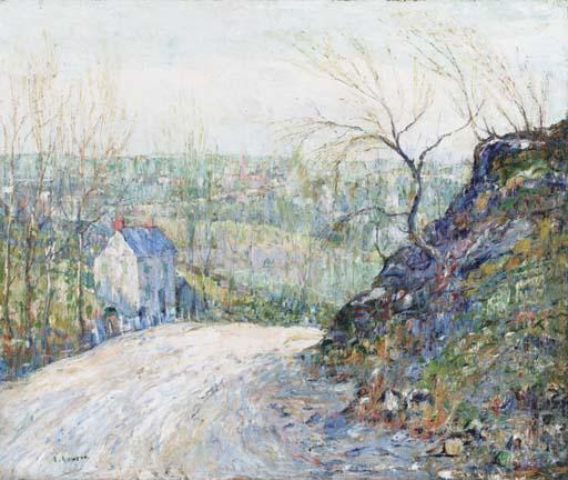 famous painting Suburban Road of Ernest Lawson