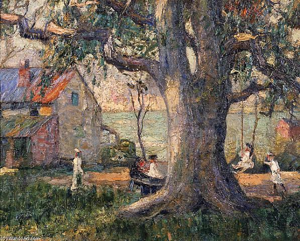 famous painting SUMMER AFTERNOON of Ernest Lawson