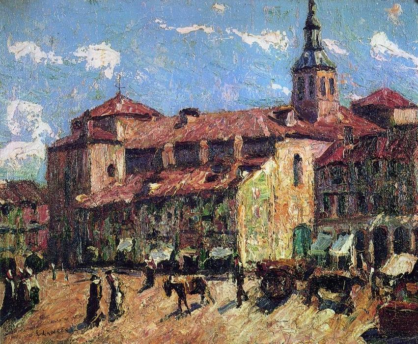 famous painting Sunny Day - Segovia of Ernest Lawson