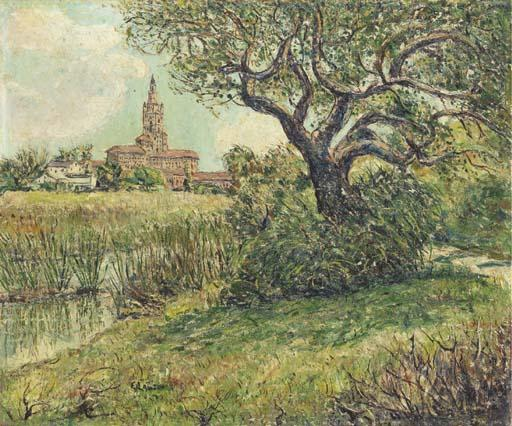 famous painting The Biltmore Hotel, Palm Beach of Ernest Lawson