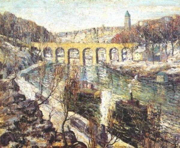famous painting The Bridge of Ernest Lawson