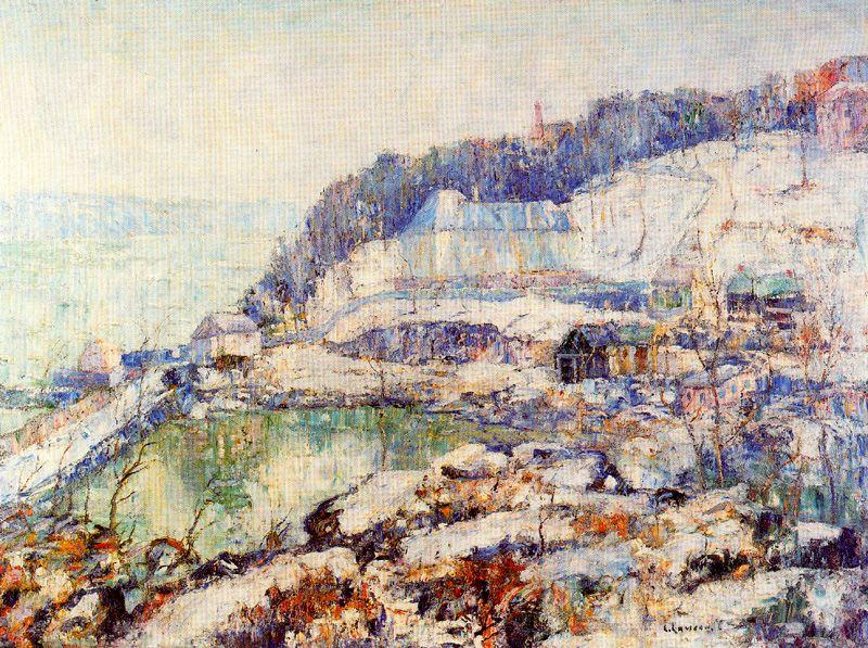 famous painting The Hudson at Inwood of Ernest Lawson