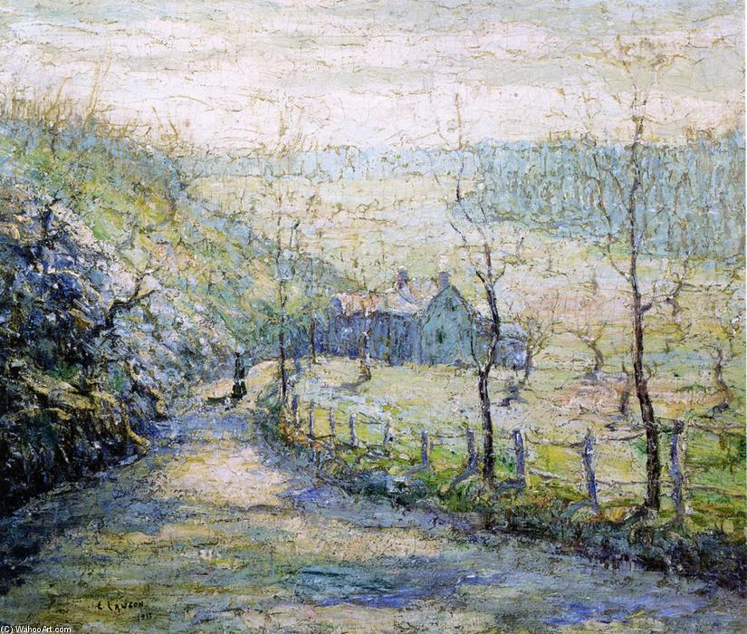 famous painting The Road of Ernest Lawson