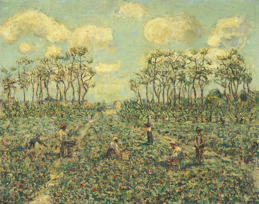 famous painting Tomato Patch, Florida of Ernest Lawson