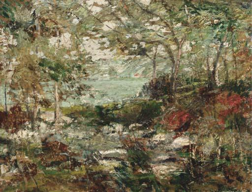 famous painting Trees and Rocks of Ernest Lawson