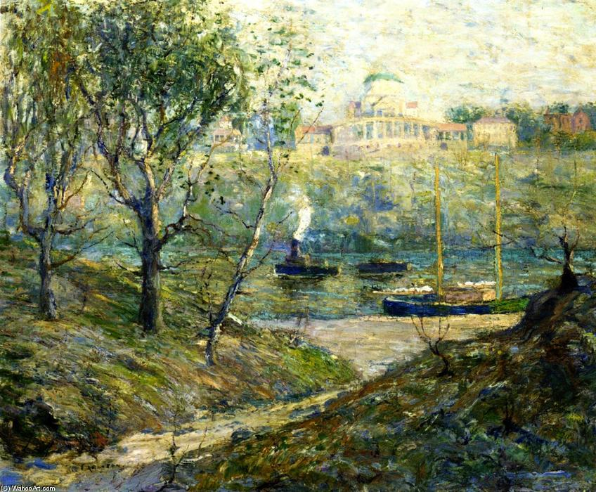 famous painting University Heights, New York of Ernest Lawson