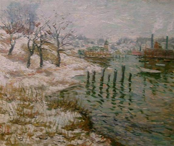 famous painting Upper New York City of Ernest Lawson
