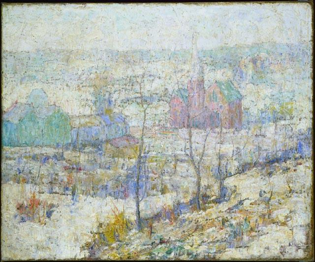 famous painting Winter 1 of Ernest Lawson