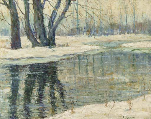 famous painting Winter Landscape of Ernest Lawson