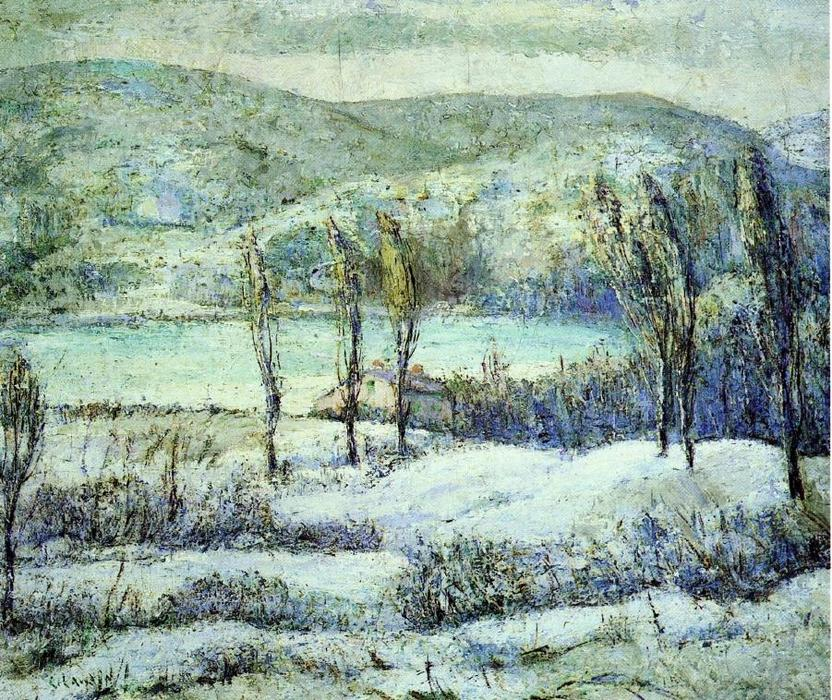 famous painting Winter Scene of Ernest Lawson