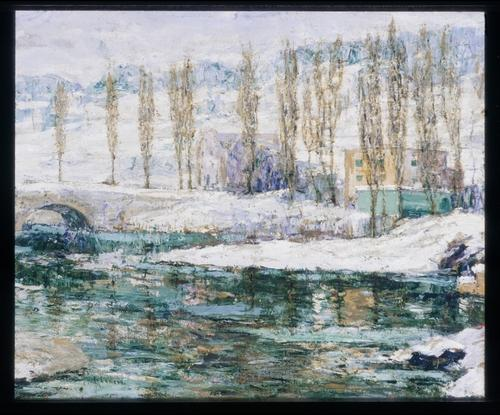 famous painting Winter of Ernest Lawson