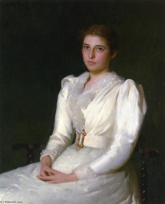 famous painting Alice Bacon (Mrs. W. Sturgis H. Lothrop) of Frank Weston Benson