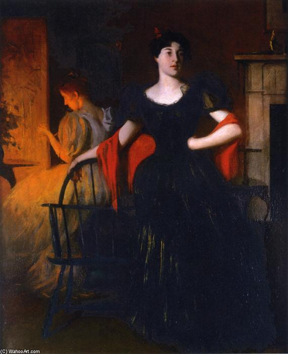 famous painting Before the Ball of Frank Weston Benson
