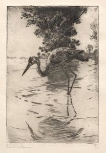 Frank Weston Benson - Blue Heron