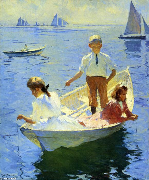 famous painting Calm Morning of Frank Weston Benson