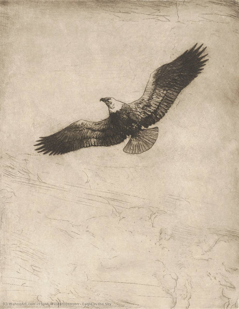 famous painting Eagle in the Sky of Frank Weston Benson