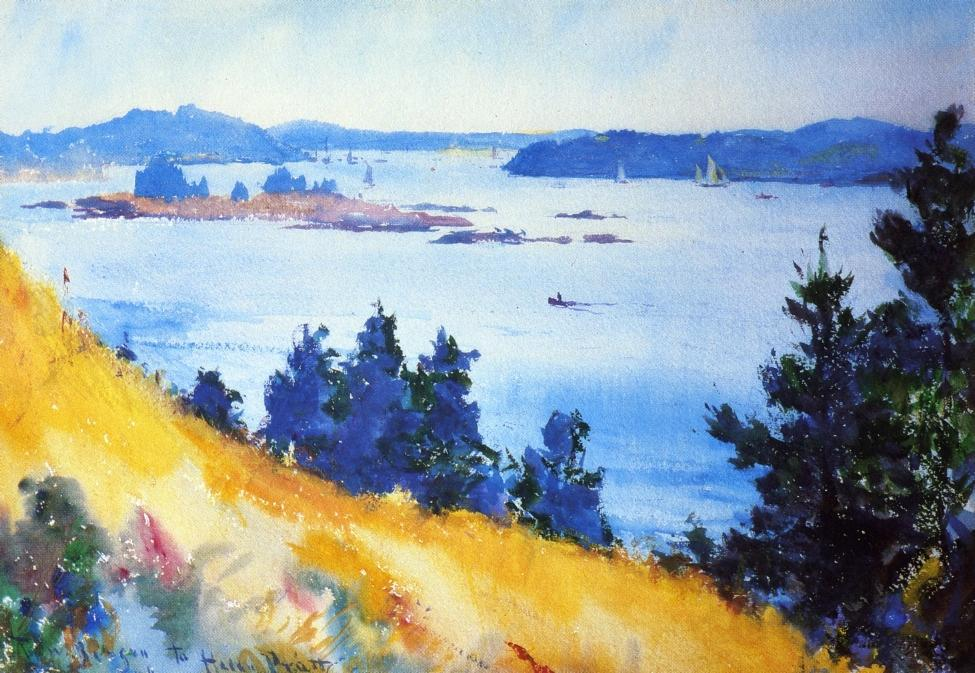 famous painting Fox Islands Thoroughfare, Maine of Frank Weston Benson