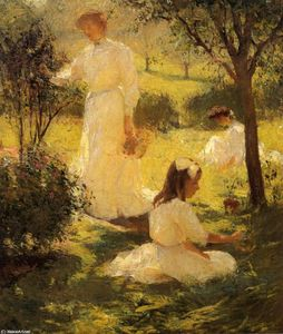 Frank Weston Benson - Girls in the Garden