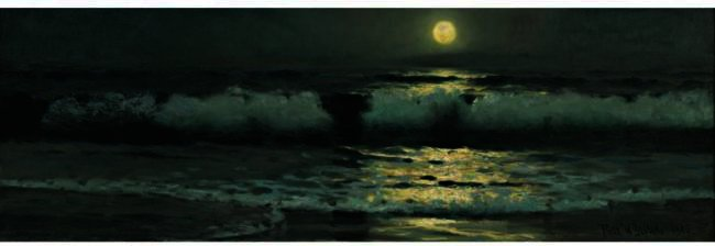 famous painting MOONLIGHT of Frank Weston Benson