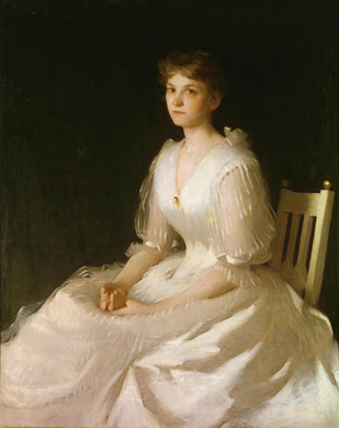 famous painting Portrait in White of Frank Weston Benson