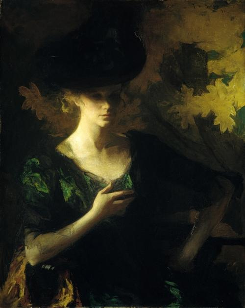 famous painting Portrait of a Lady of Frank Weston Benson