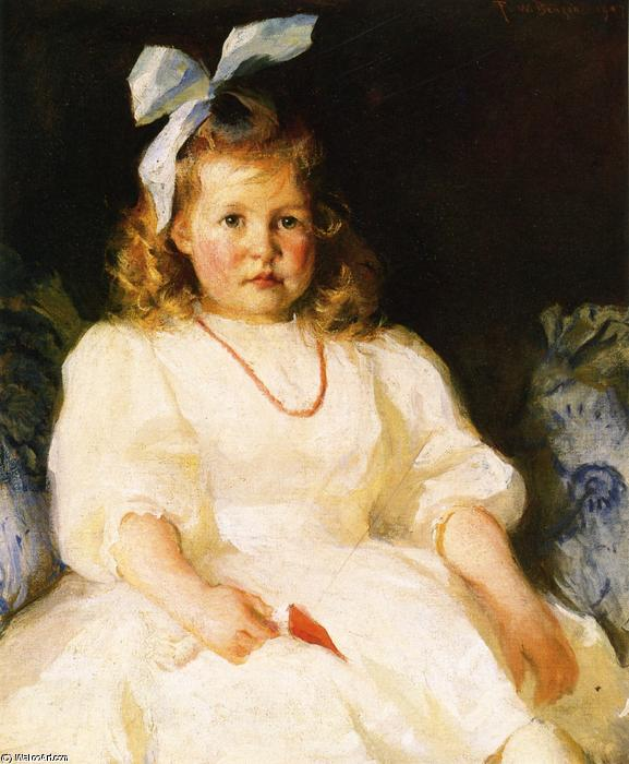 famous painting Portrait of Elizabeth Tyson Russell of Frank Weston Benson
