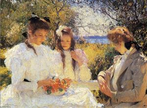 Frank Weston Benson - Portrait of My Daughters