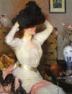Frank Weston Benson - The Black Hat