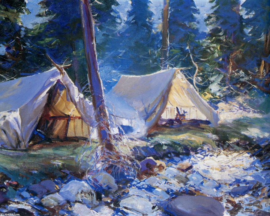 famous painting The Camp of Frank Weston Benson