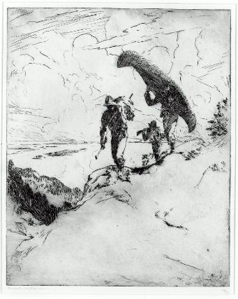 famous painting The high carry of Frank Weston Benson