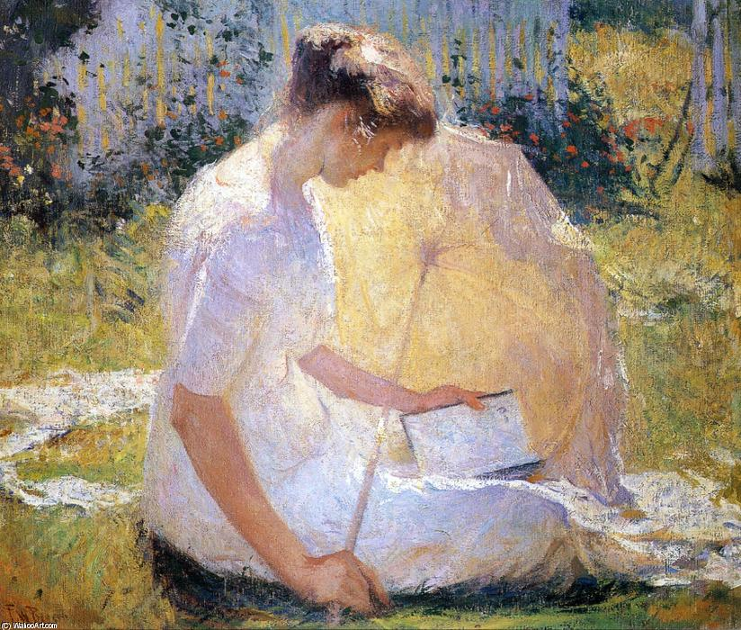 famous painting The Reader of Frank Weston Benson