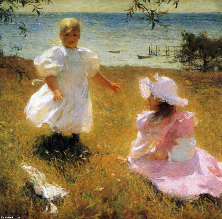 famous painting The Sisters of Frank Weston Benson