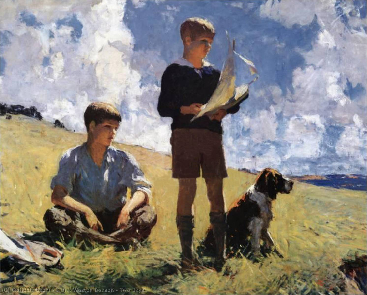 famous painting Two Boys of Frank Weston Benson