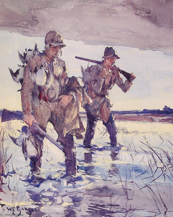 famous painting Two Duck Hunters of Frank Weston Benson