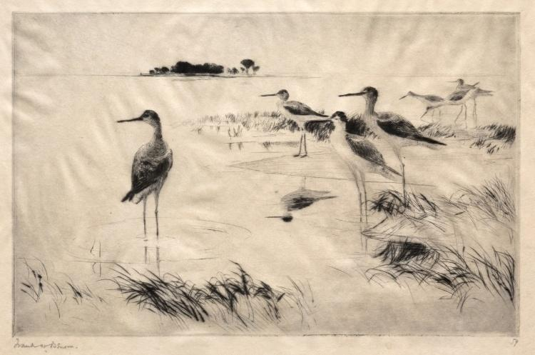 famous painting Winter Yellowlegs of Frank Weston Benson