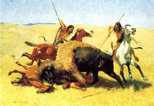 Frederic Remington - The Buffalo Hunt