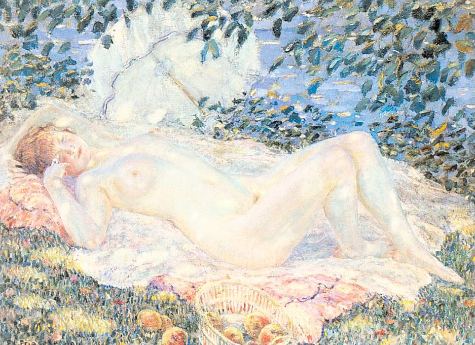 famous painting Autumn of Frederick Carl Frieseke