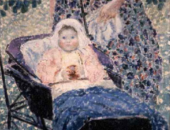 famous painting Baby in Pram of Frederick Carl Frieseke