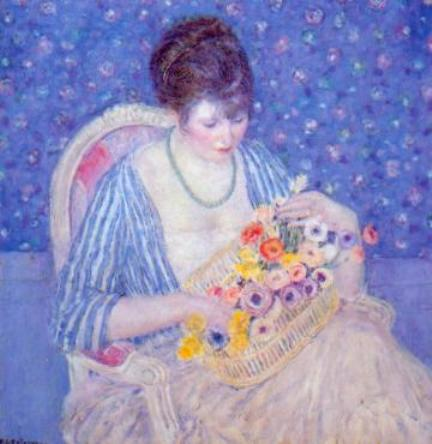 famous painting Basket of Flowers of Frederick Carl Frieseke