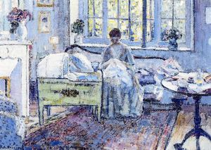 Frederick Carl Frieseke - By The Cradle