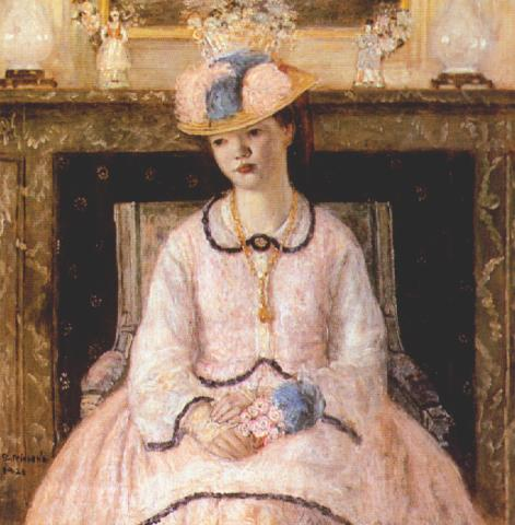 famous painting Fancy Dress of Frederick Carl Frieseke