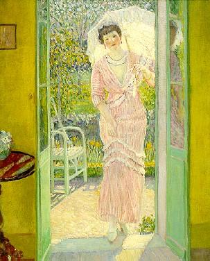 famous painting Good Morning of Frederick Carl Frieseke