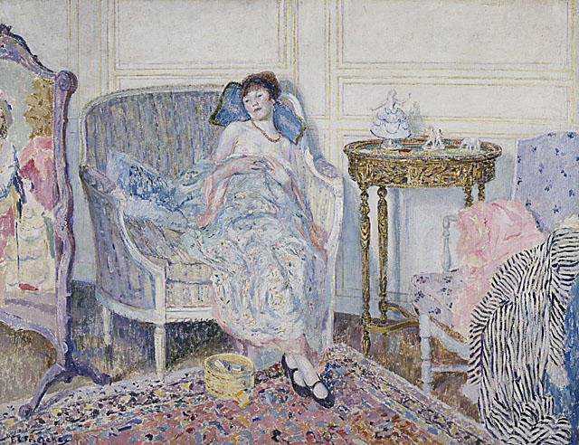 famous painting In the Boudoir of Frederick Carl Frieseke