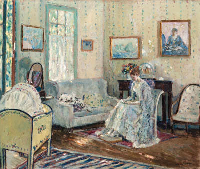 famous painting In the Nursery of Frederick Carl Frieseke