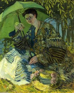Frederick Carl Frieseke - Lady With A Parasol