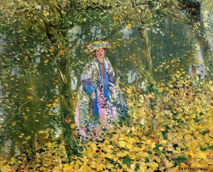 famous painting Late October of Frederick Carl Frieseke
