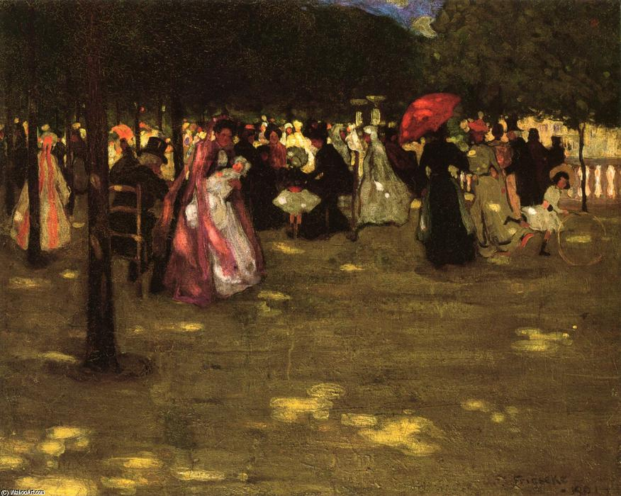 famous painting Luxembourg Gardens of Frederick Carl Frieseke